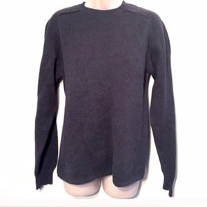 GAP men's charcoal gray cotton sweater small